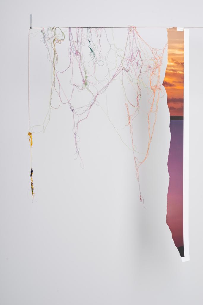 Sunset Hanging (Fragment Series) (detail) 2015 Acr...