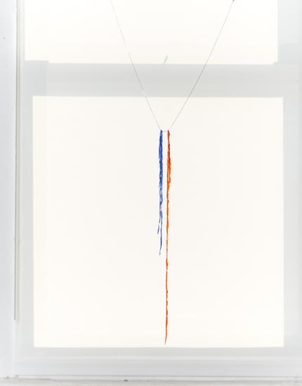 Single Chain Hanging 2015 Acrylic paint and metal...