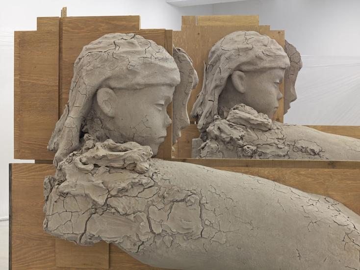 Mark Manders Room with Unfired Clay Figures (detai...