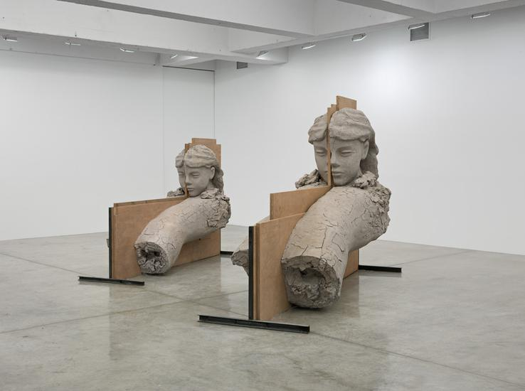 Mark Manders Room with Unfired Clay Figures 2011 -...