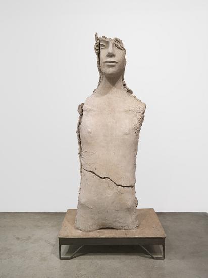 Mark Manders Unfired Clay Torso 2015 Painted bronz...