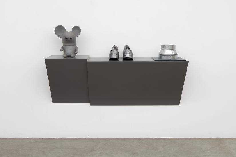Haim Steinbach Untitled (mouse, shoes, duct) 2016...