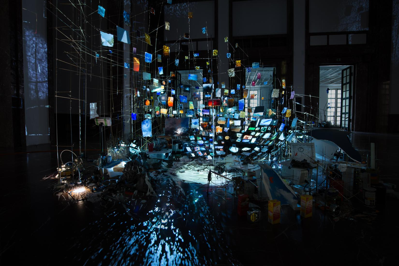 Sarah SZE Centrifuge 2017 Mixed media, mirrors, wo...
