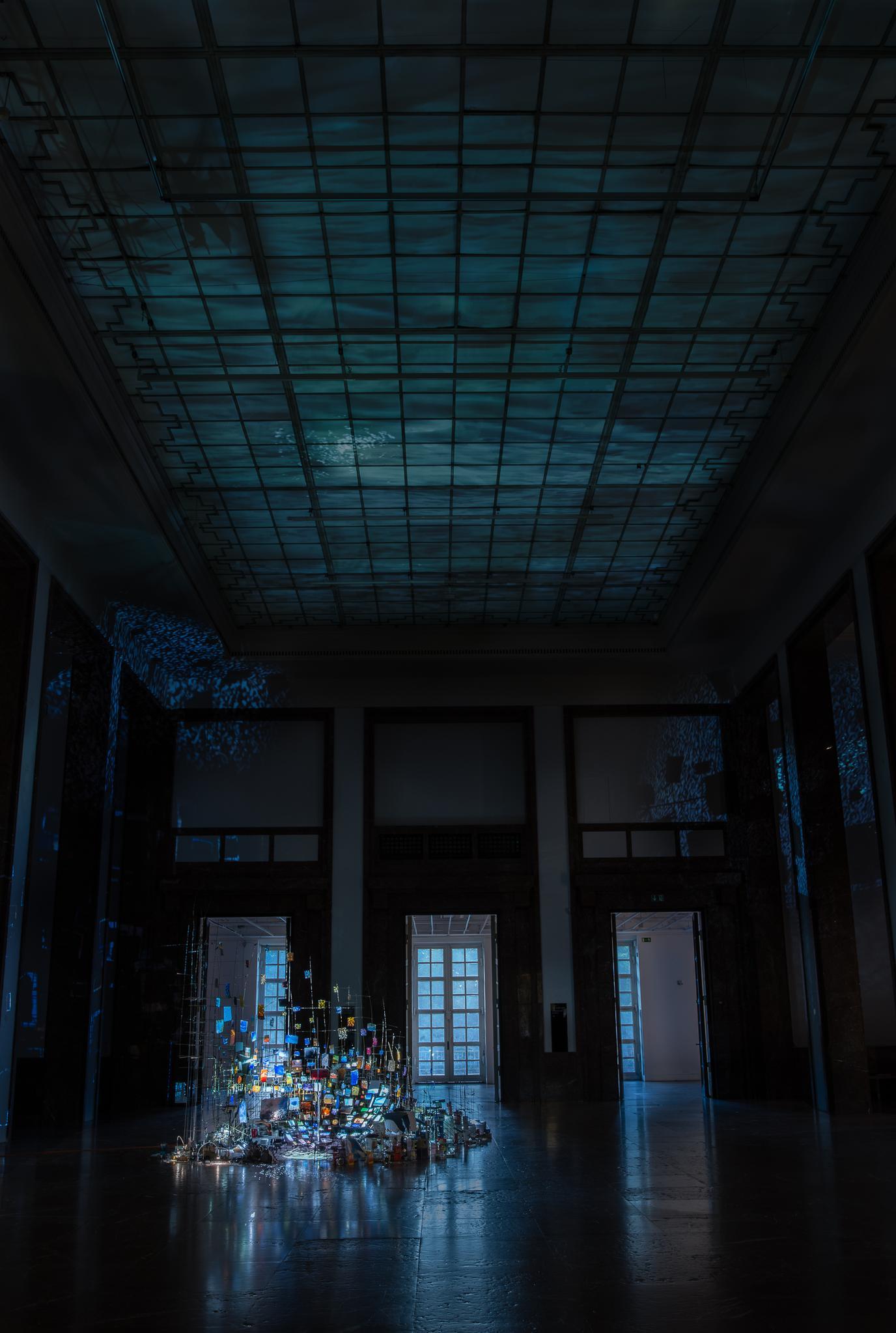 Sarah SZE Centrifuge 2017 Mixed media, mirrors, wo...