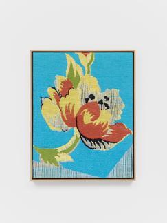 Lisa Oppenheim Jacquard Weave (Flower) 2017 Jacqua...