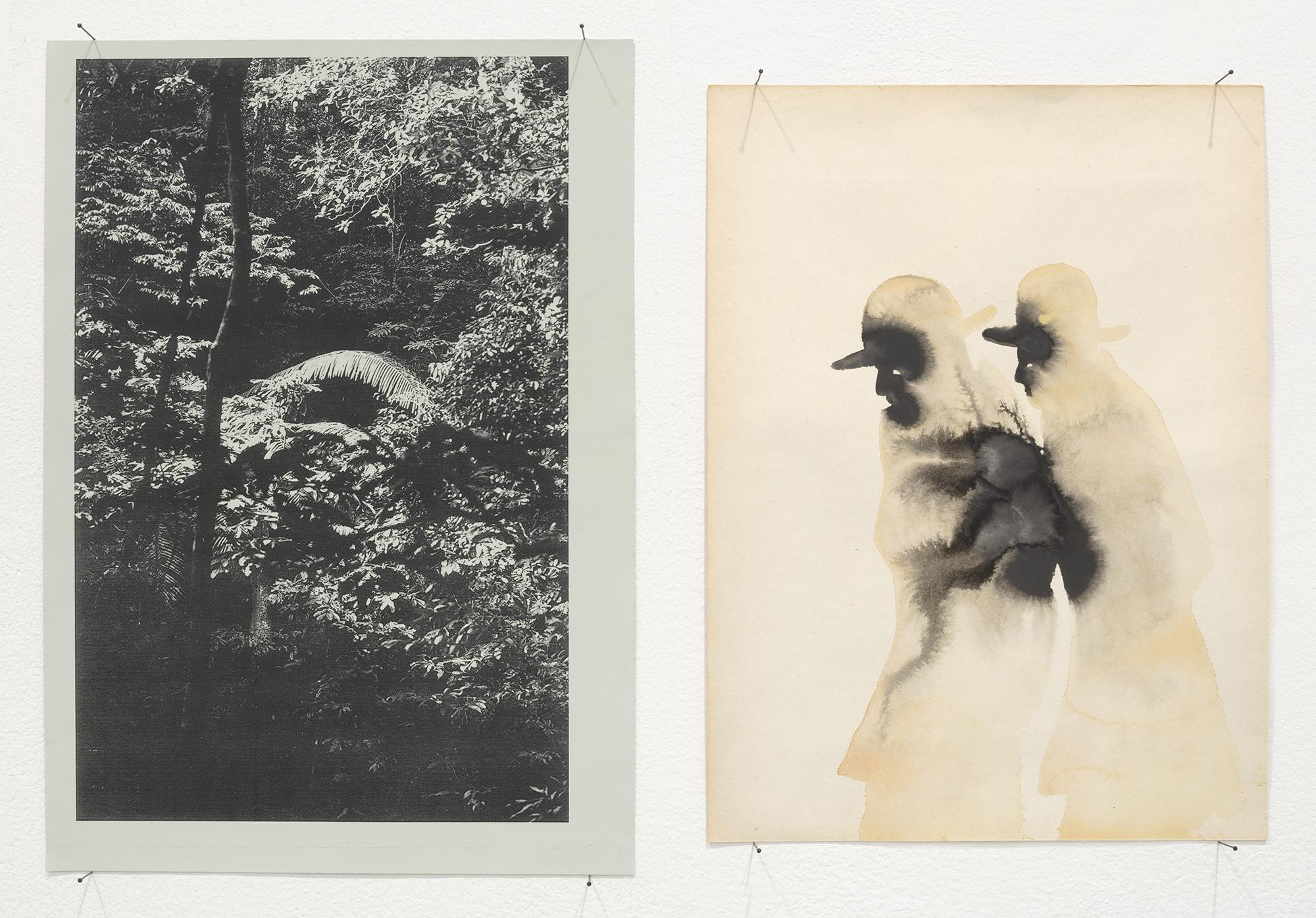 Dirk STEWEN Untitled 2016/2017 Laser Print and Ink...