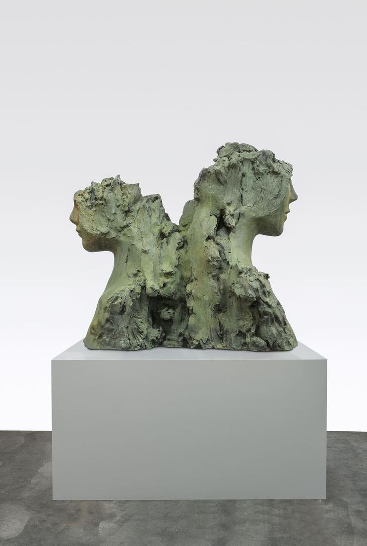 Mark MANDERS Two Immovable Heads 2015-16 Patinated...