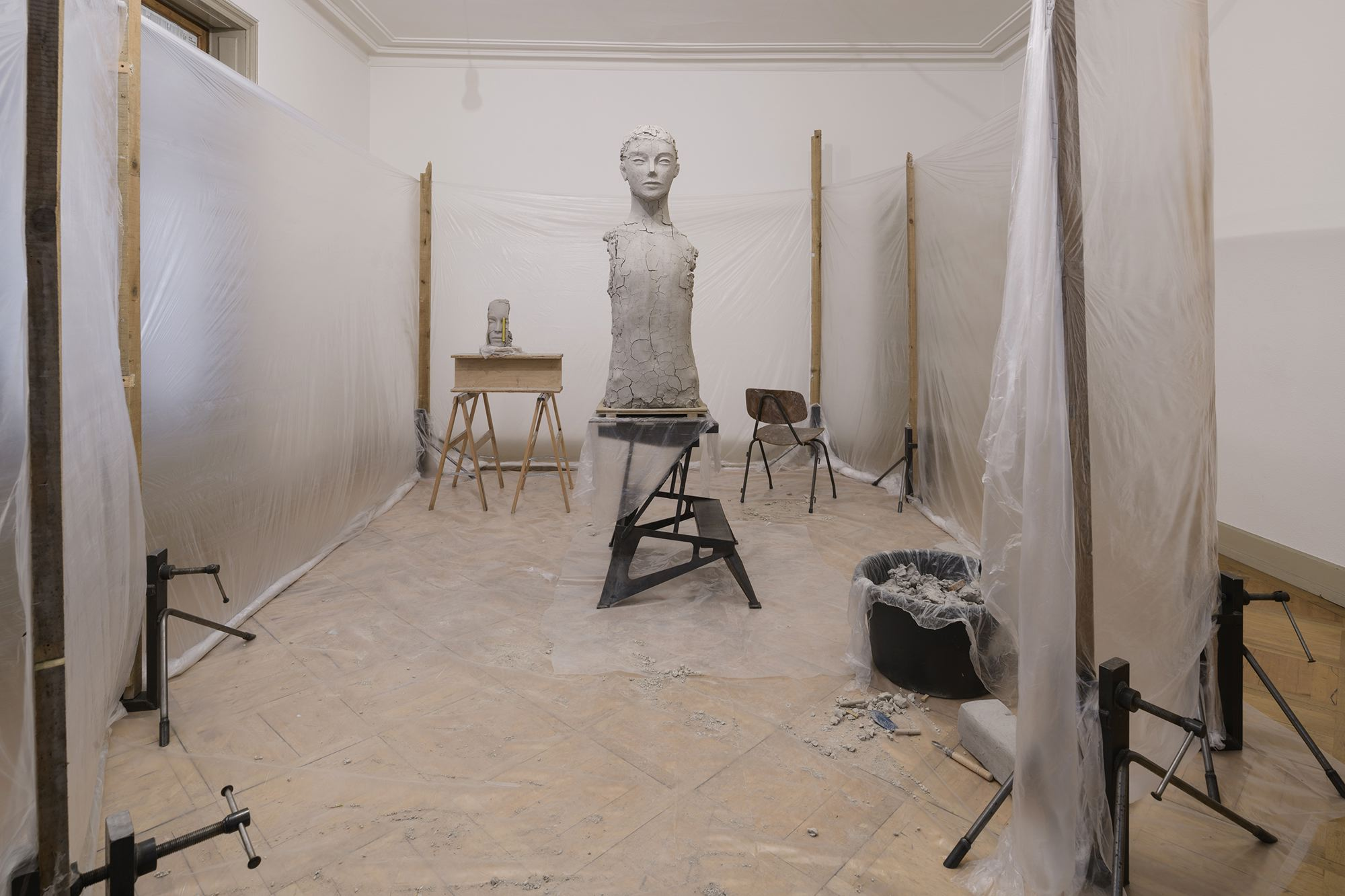 Mark MANDERS Room with Unfired Clay Figure 2014 Pa...