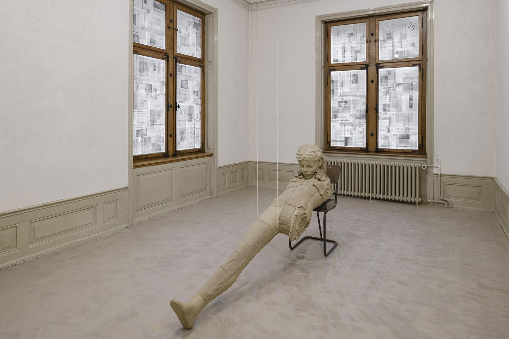 Mark MANDERS Clay Figure with Thin White Rope 2013...