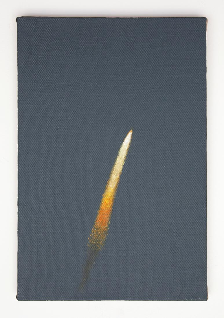 Dana POWELL Rocket 2018 Oil on linen 15 x 10 inche...