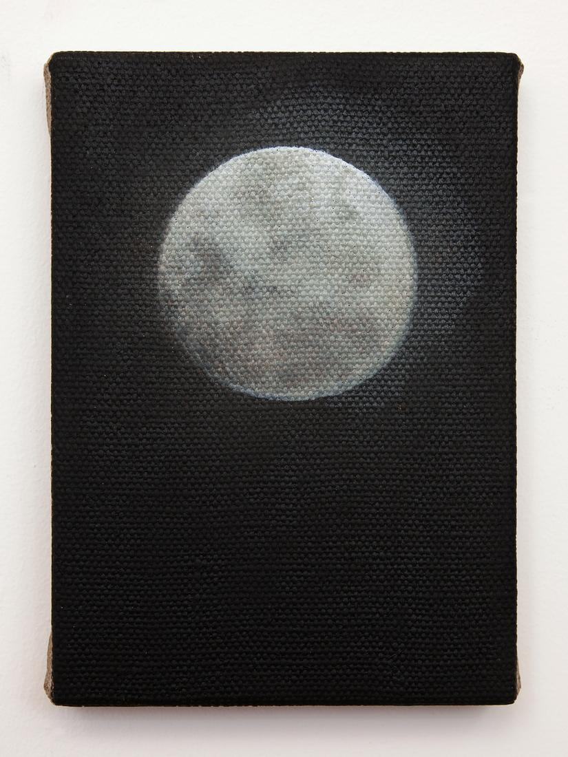 Dana POWELL The moon 2018 Oil on linen 7 x 5 inche...