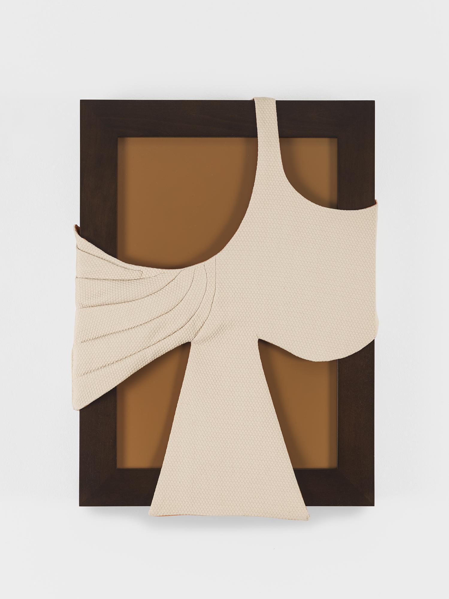 Laura Lima Aracy 2019 Fabric, thread, wood 21 1/2...