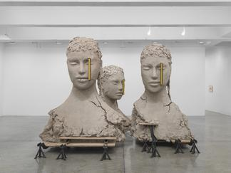 Mark MANDERS Composition with Four Yellow Vertical...