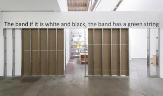 Haim STEINBACH the band if it is white and black t...