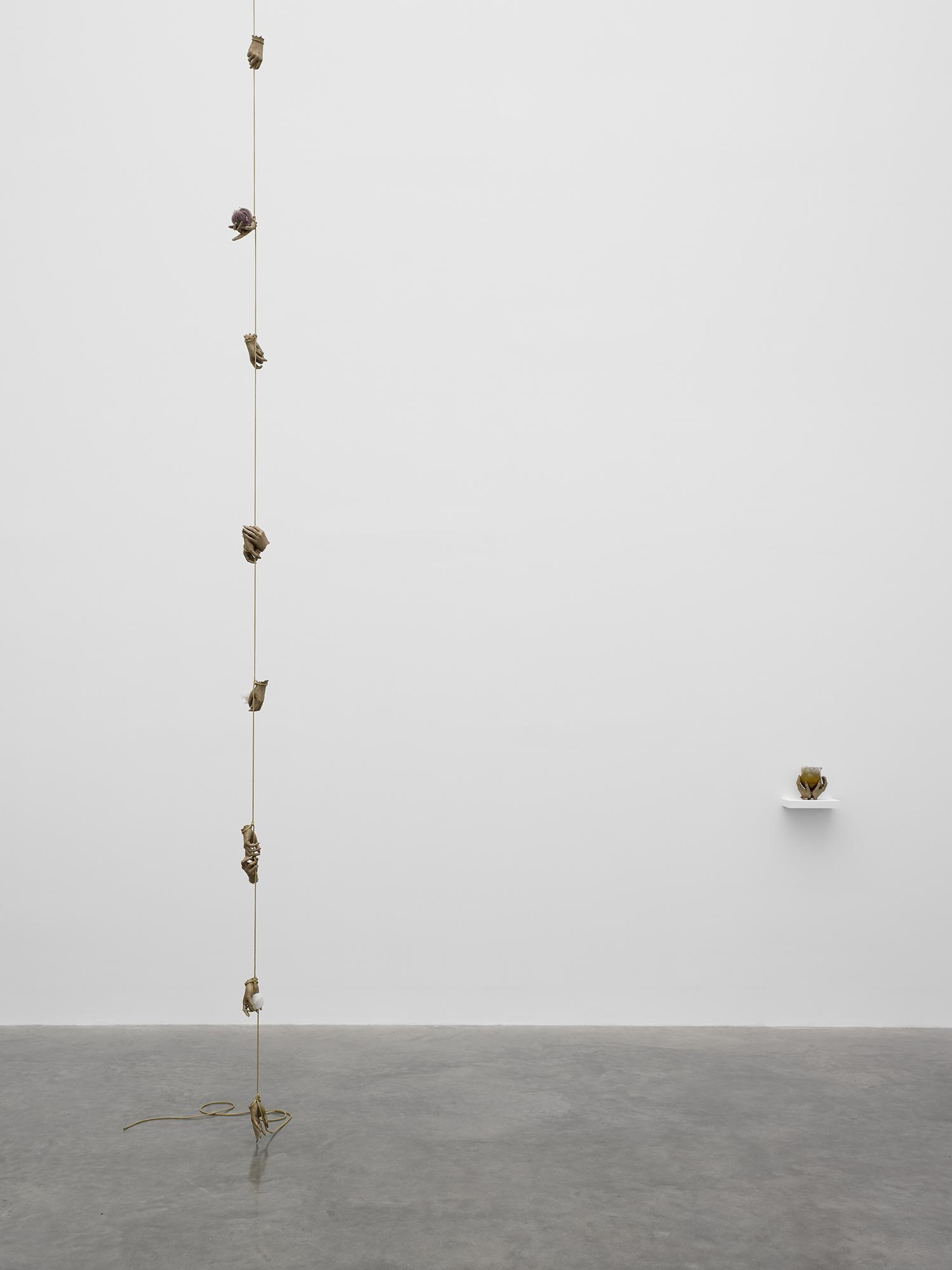 Kelly Akashi Well(-)Hung 2017 Bronze, silicone, re...