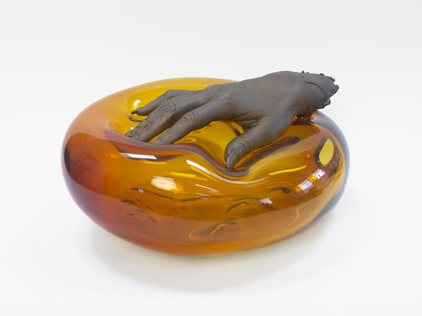 Kelly Akashi Feel Me (Amber) 2018 Bronze, hand-blo...