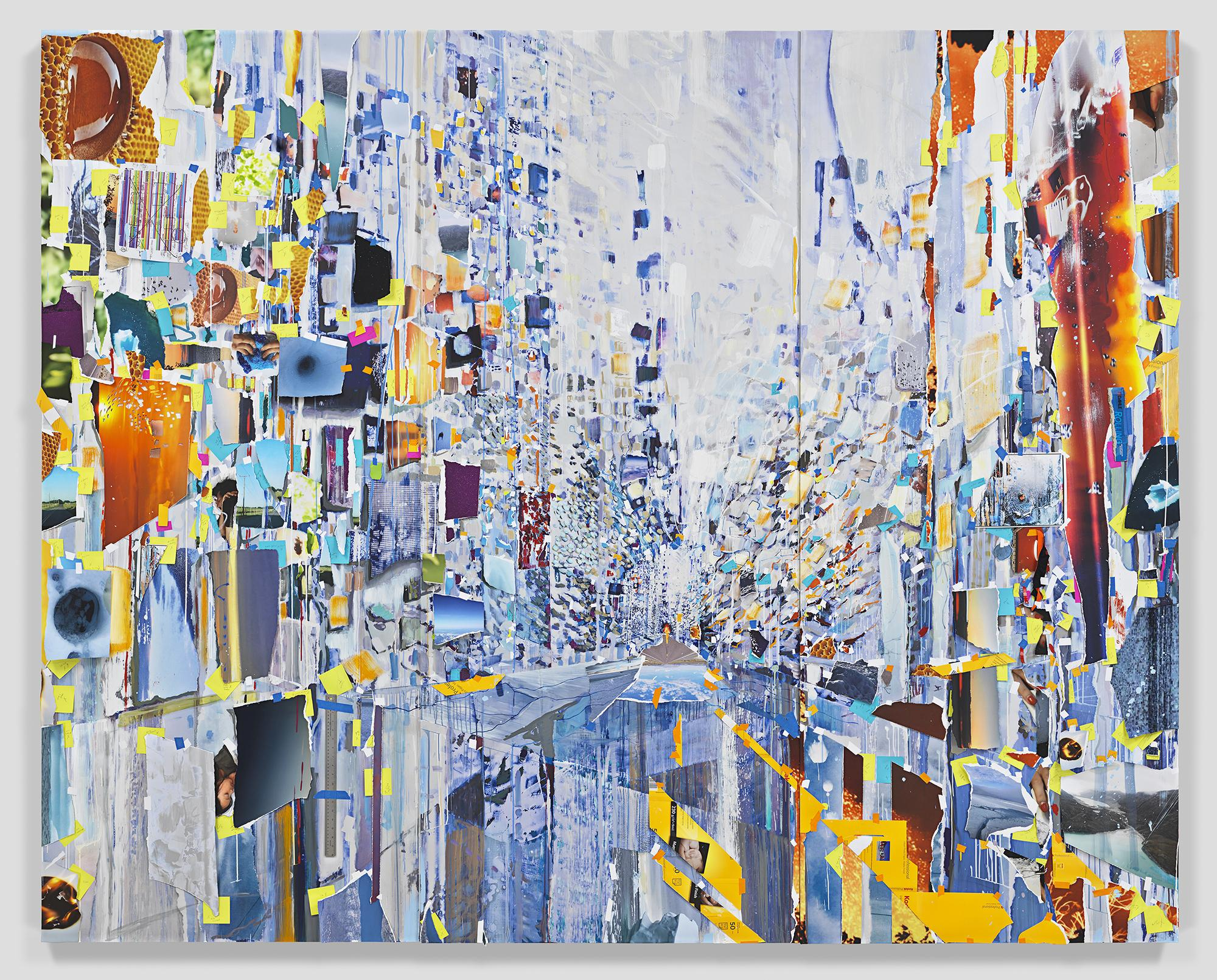 This is an image of Sarah Sze's painting called Su...