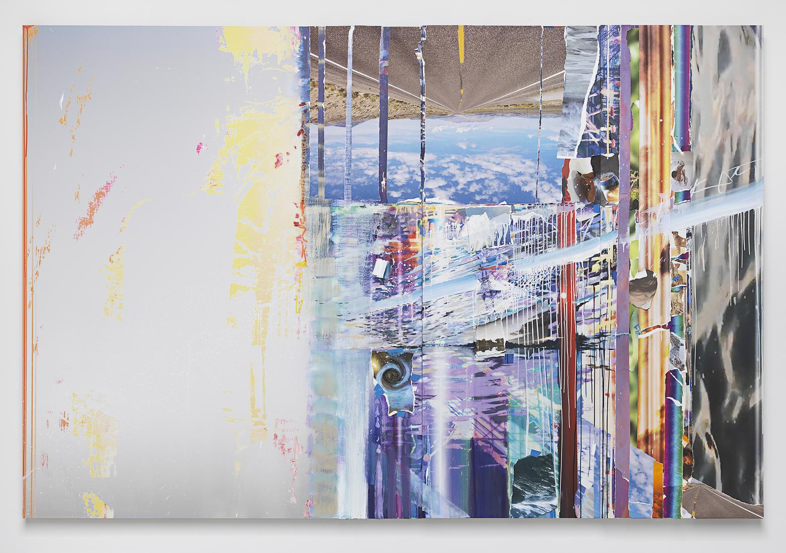 This is an image of Sarah Sze's painting called 12...