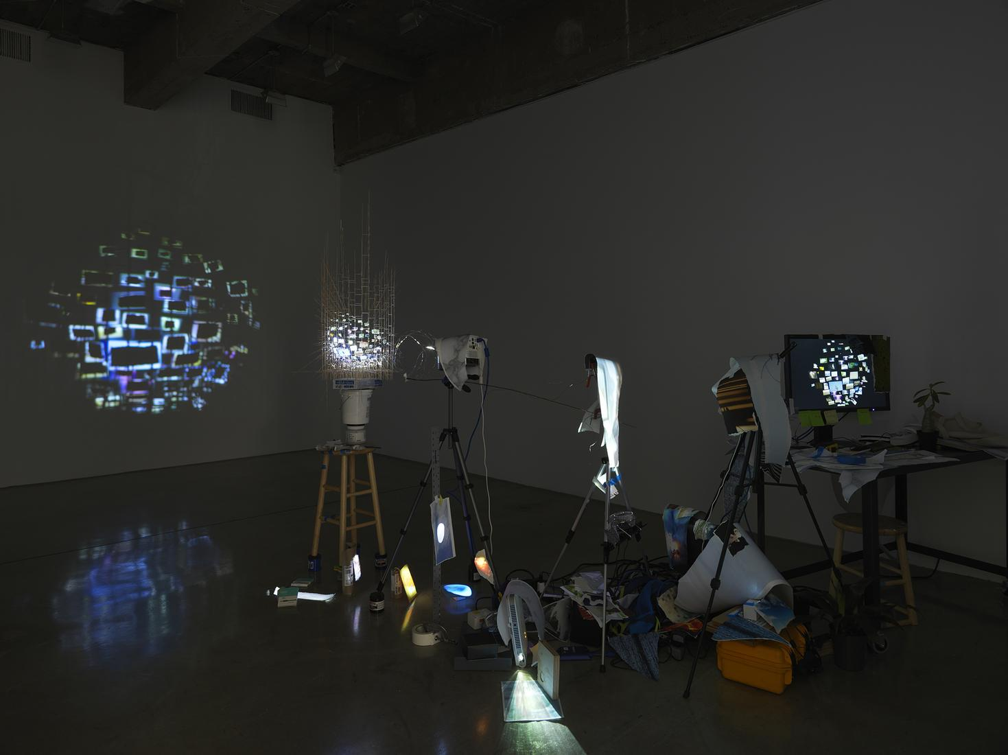 This is an image of Sarah Sze's sculpture called I...