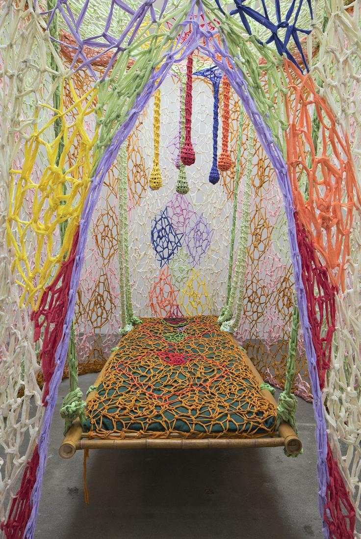 This is an installation image of Ernesto Neto's ex...