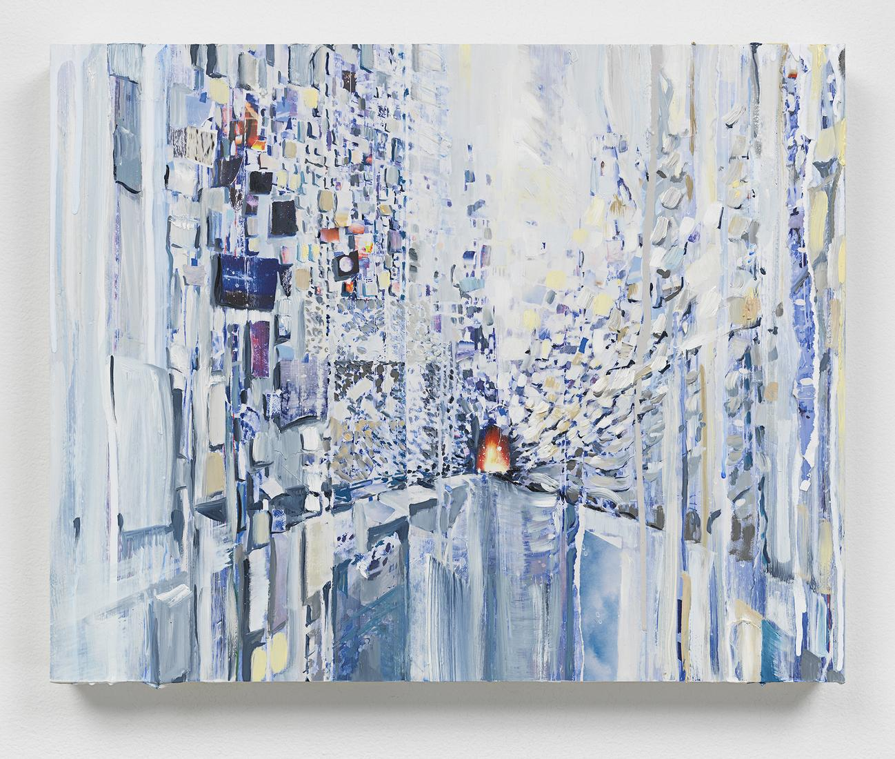 This is an image of Sarah Sze's painting called Th...