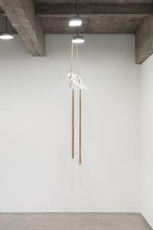 """This is a image of Kelly Akashi's sculpture """"Serra..."""