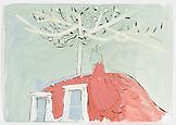 Neal TAIT Toits de Parise 2008 acrylic and tempera...