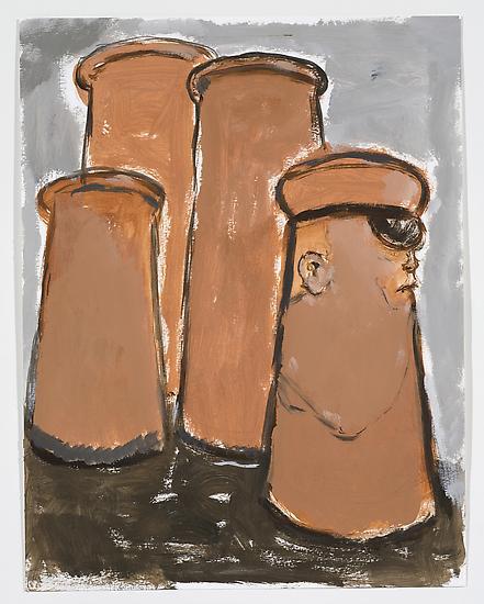 Neal TAIT Sailors Gossip 2008 acrylic and tempera...