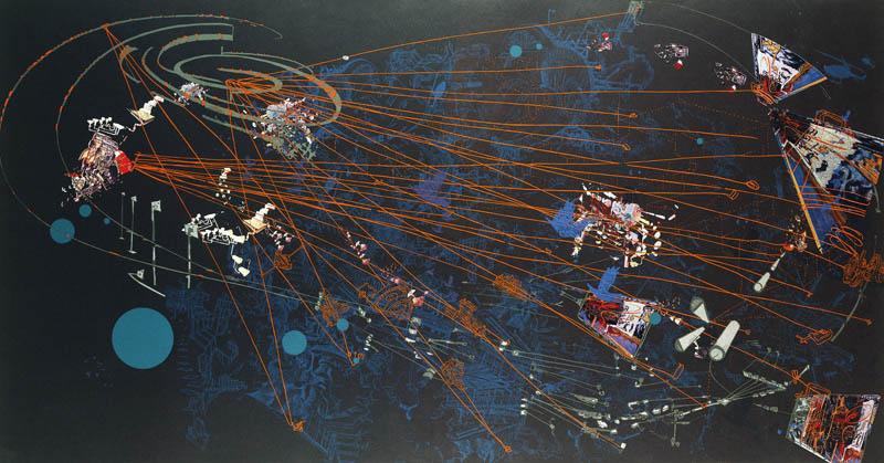 Sarah SZE Night 2003 offset lithograph and silkscr...