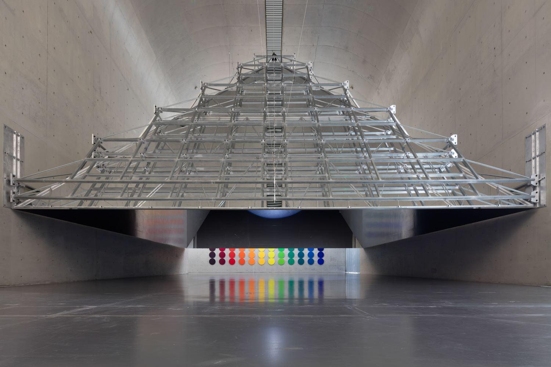 Olafur ELIASSON The open pyramid 2016 steel, alumi...