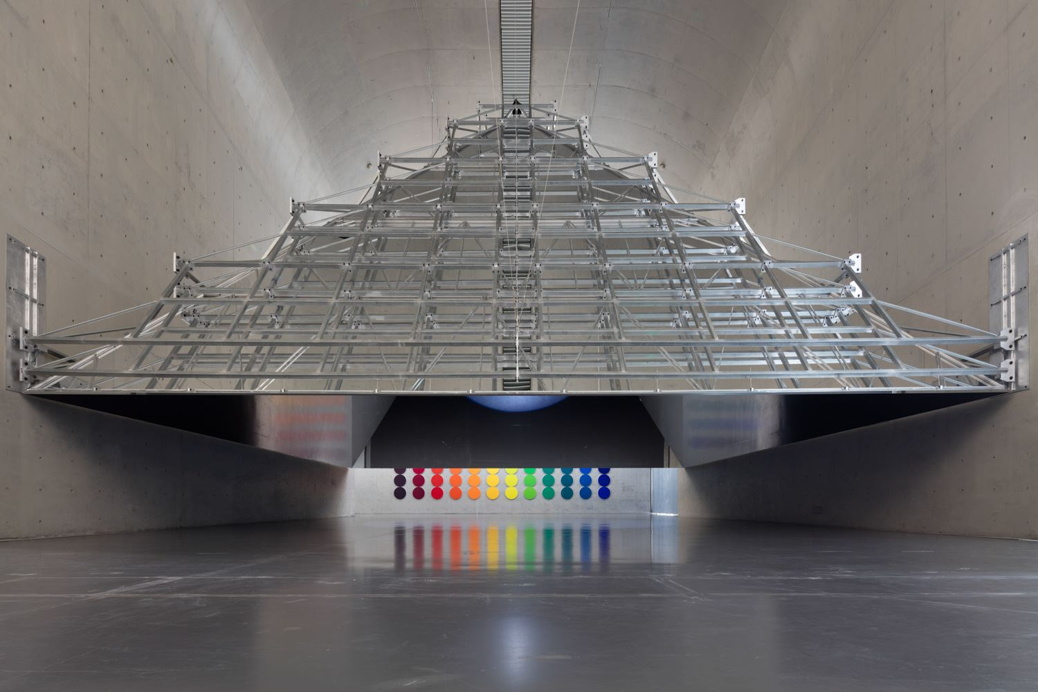 Olafur ELIASSON The open pyramid 2016 steel, alumi...