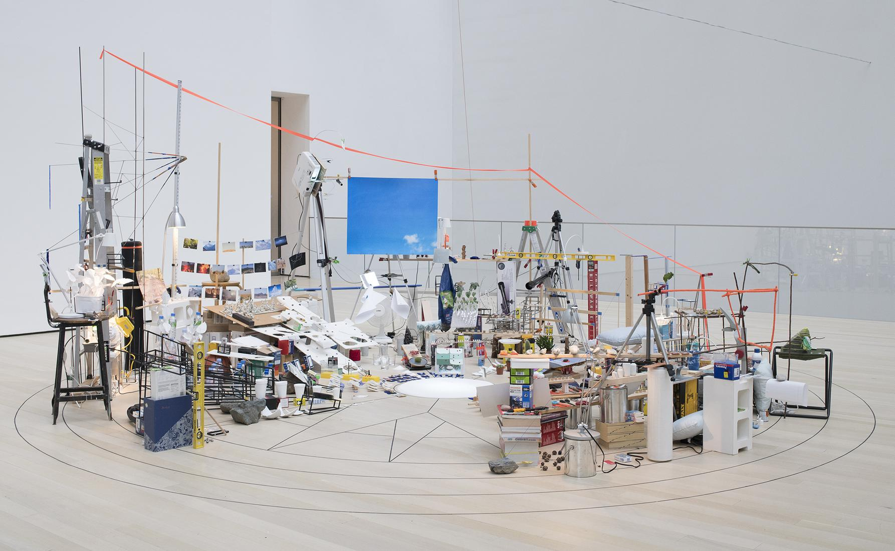 "This is an installation image of Sarah Sze ""Surrou..."
