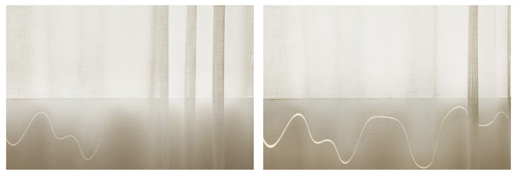 Uta Barth ... and to draw a bright white line with...