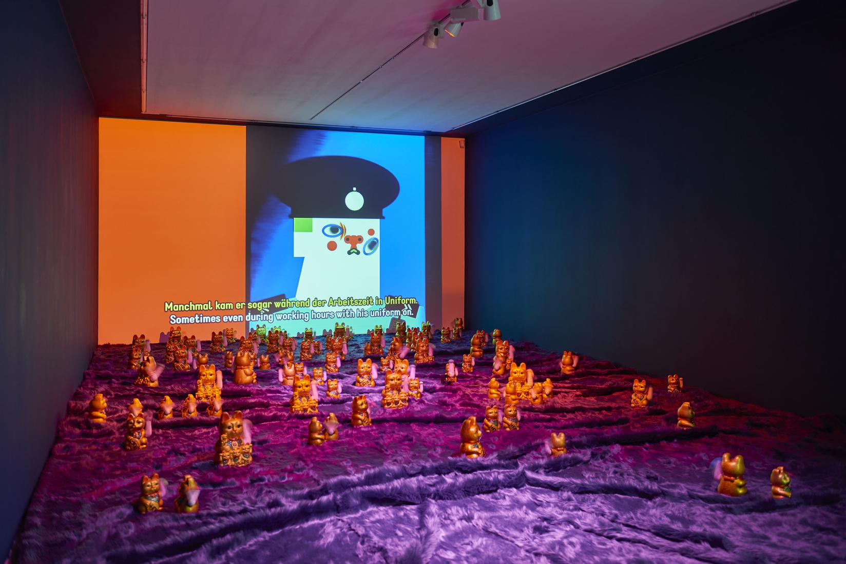 Wong Ping, Installation view, Golden Shower,...