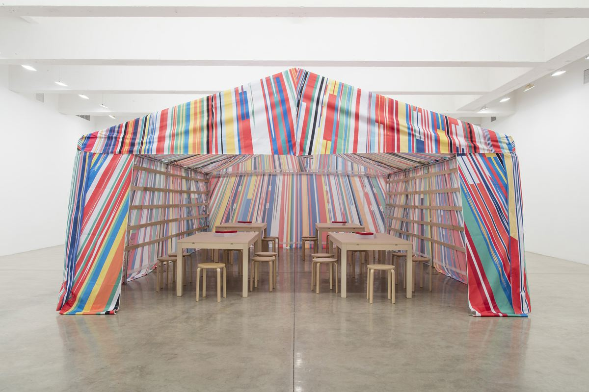 Meschac GABA Reflection Room Tent 2016 fabric and...