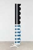 Nicole Wermers Vertical Awning (blue stripes & bla...