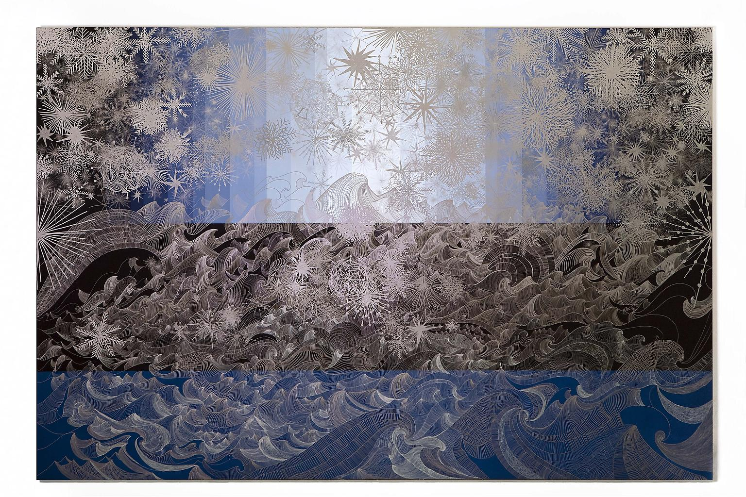 SANDRA CINTO Untitled (ocean with stars) 2008-2009...