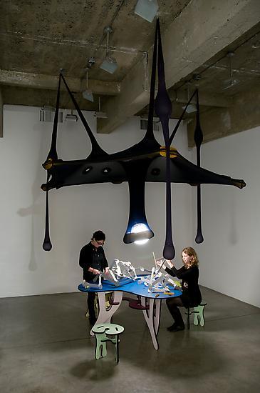 Ernesto NETO Plain Parts (Blue Table) 2008 laminat...